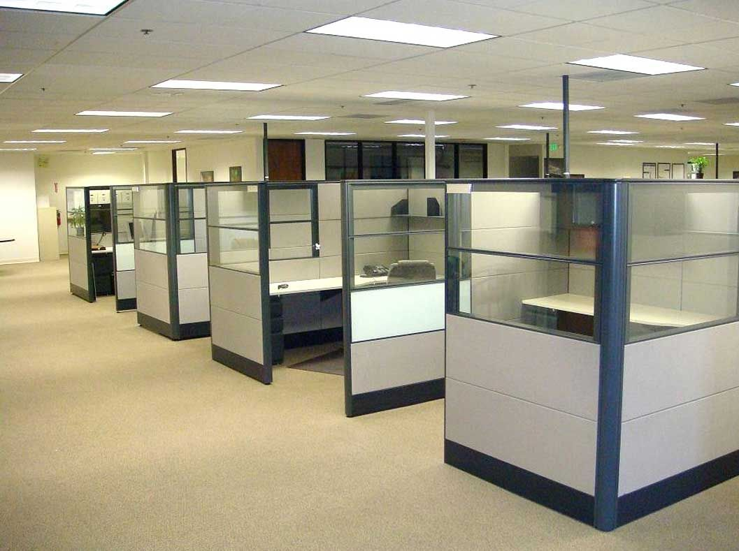 Small used cubicle walls for office office space for Design your office online