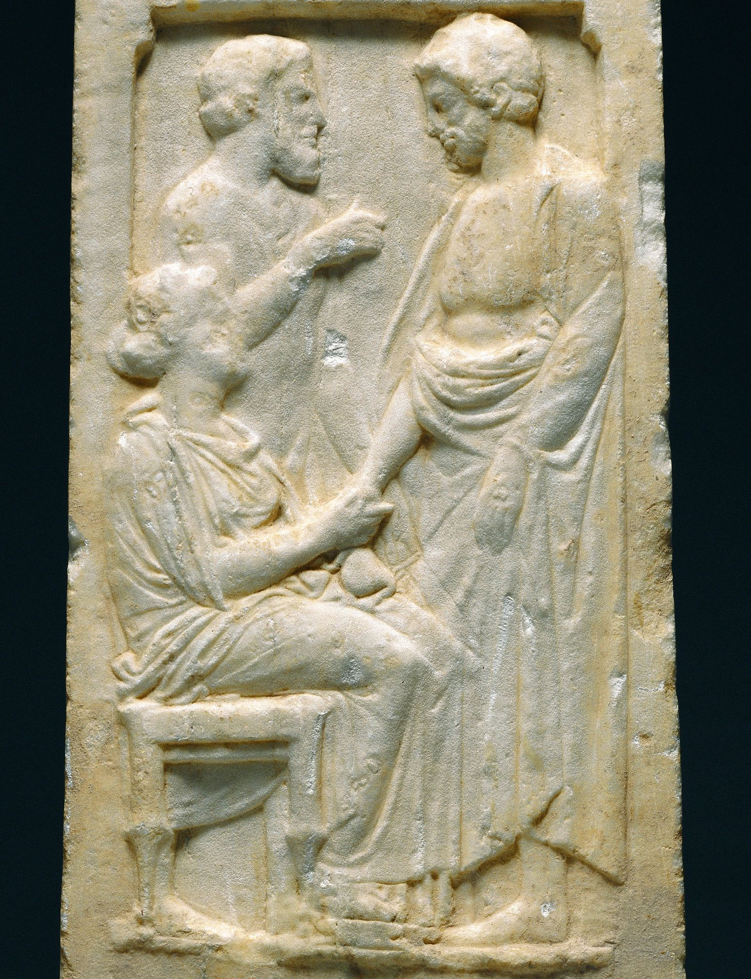 Athenian marble grave stele of thrasynos c bc quot a