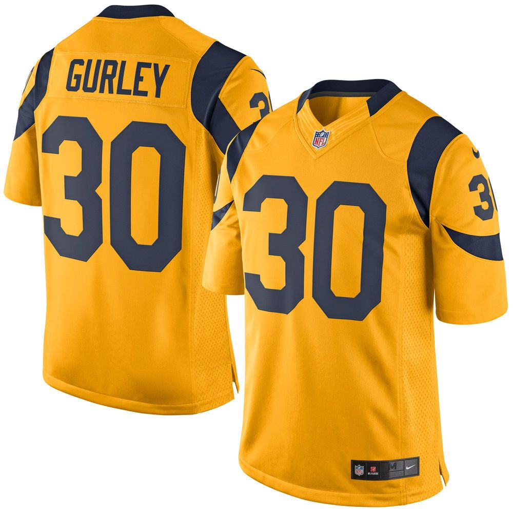 Men s St. Louis Rams Todd Gurley Nike Gold Color Rush Limited Jersey ... 04658fecc