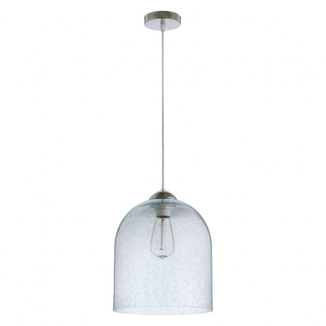 The Liv Large Clear Gl Ceiling Light Features A Shade Made From Bubbled Which