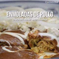 Enmoladas de pollo (con imágenes) | Recetas de comida ...