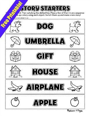 Story Starters Printable from @Melissa & Doug Toys