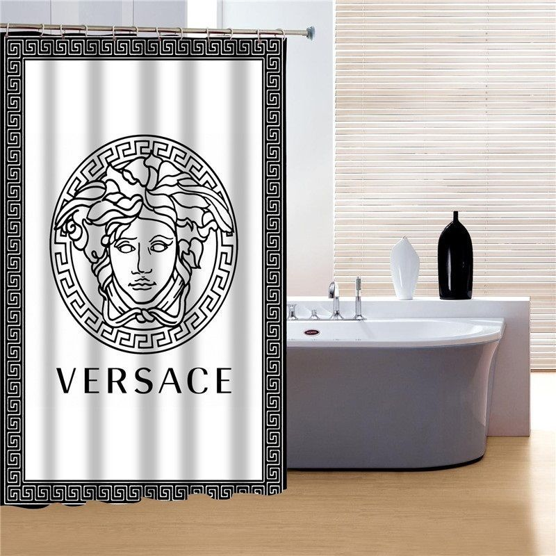 Versace Shower Curtain Bathroom Decor Black White Unbranded