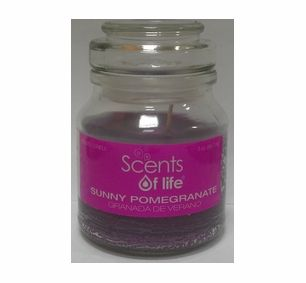 The maker of these candles has developed a soy blend wax that has a creamy look with an excellent warm fragrance throw. These candles only use top of the line soy products. The wick is a cotton core, and self-trimming, so there is no need to cut wicks.