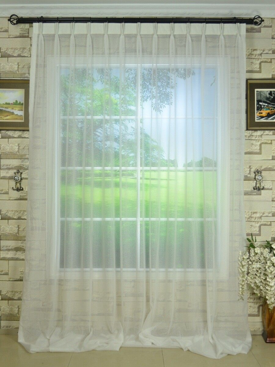 QY7151SJC Laura Solid Plain Dyed Double Pinch Pleat Sheer Curtains   Custom  Curtains Drapes Draperies Sheers