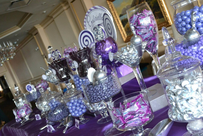 Sweet 16 Candy Buffet Ideas Purple Candy Buffet Purple Candy Sweet 16 Candy Buffet