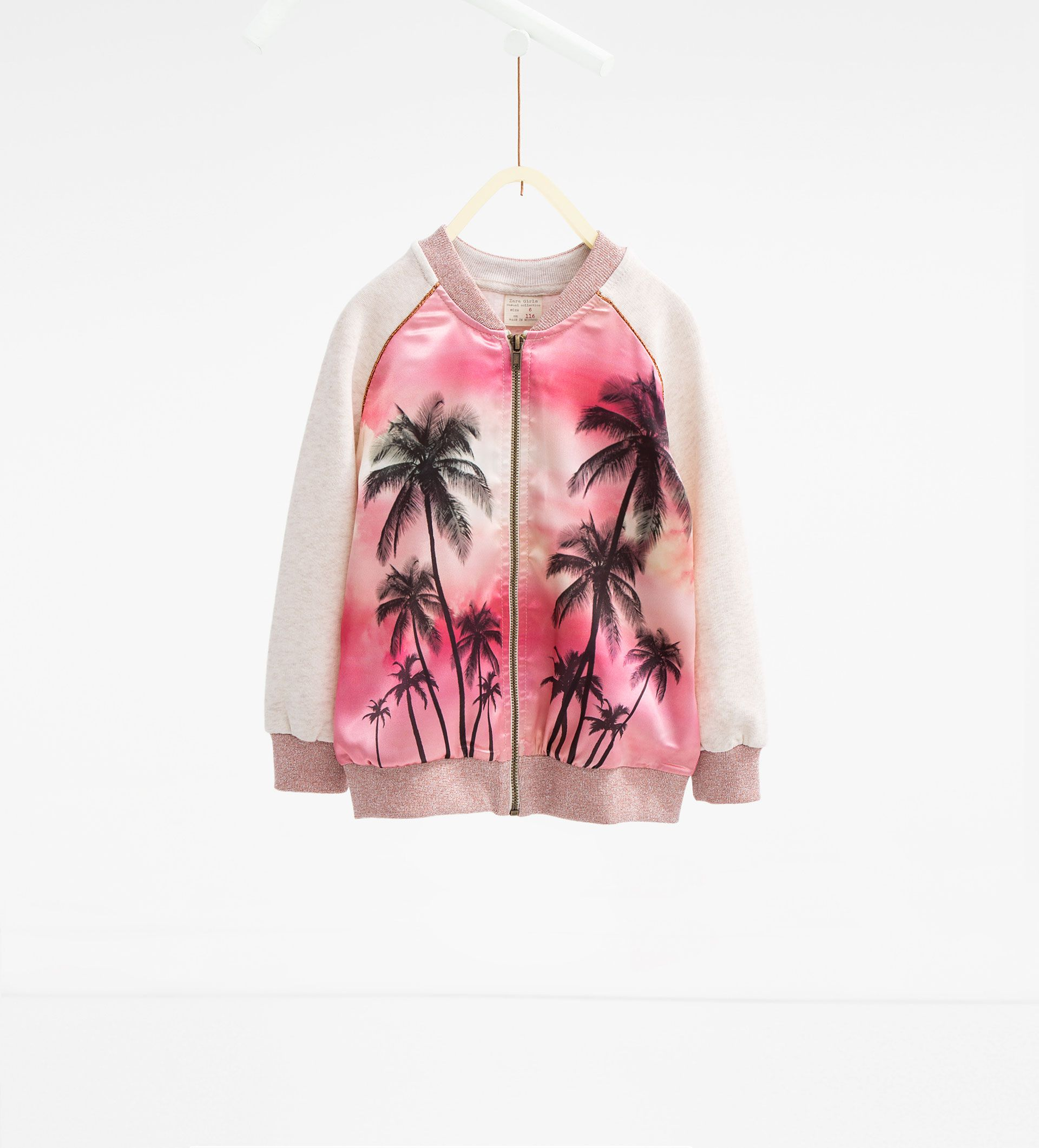 Blusão estilo bomber com palmeiras