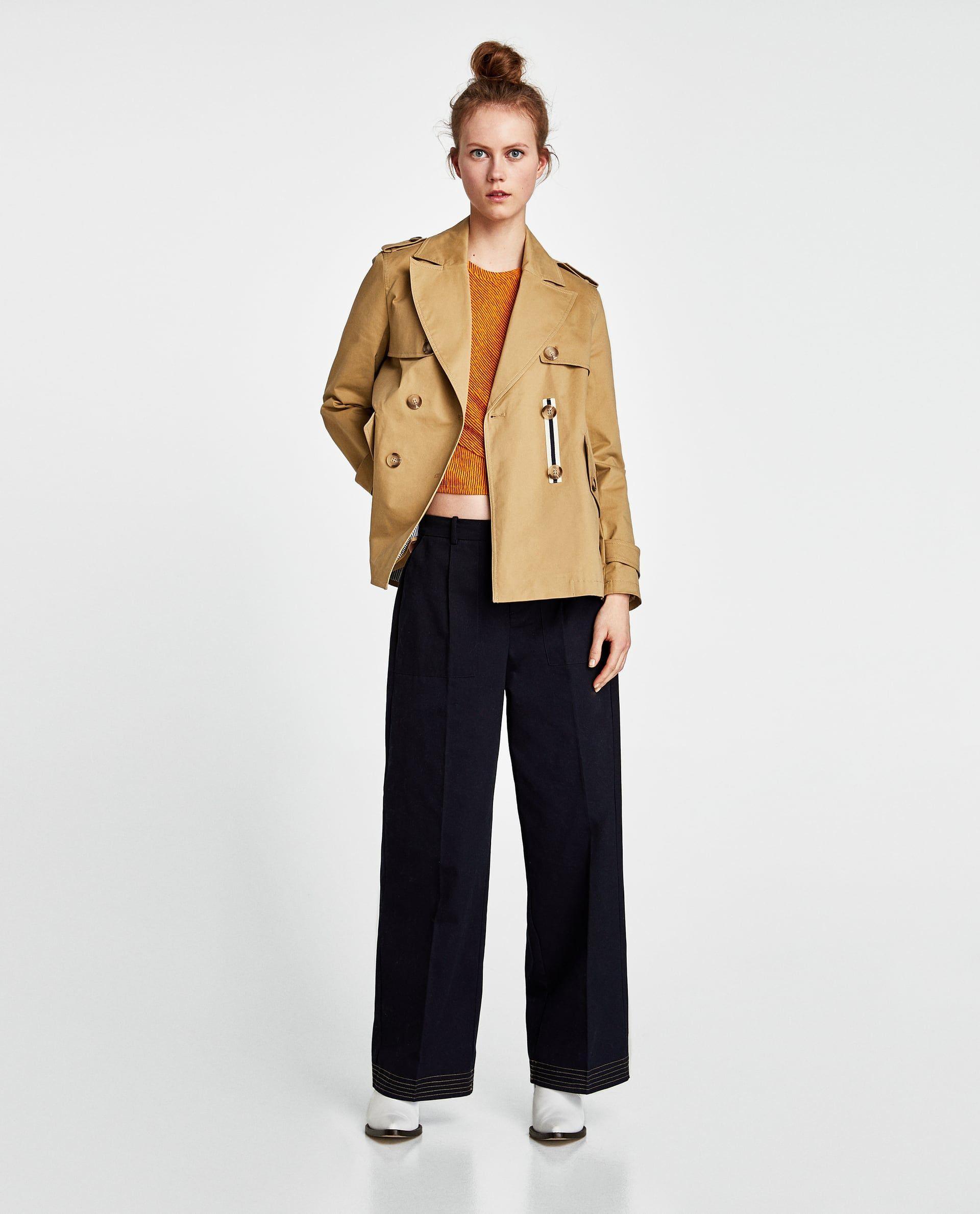 21fc07e3 GABARDINA CORTA | Coats and Jackets | Short trench coat, Coat, Zara ...