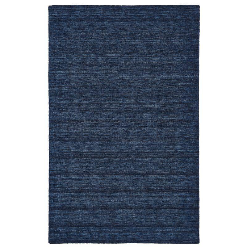 Larissa Handwoven Wool Dark Blue Area Rug Reviews Allmodern Dark Blue Rug Blue Wool Rugs Wool Area Rugs
