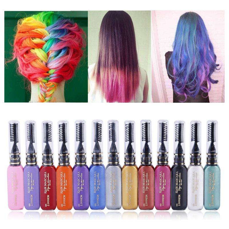 Women beauty hair color hair dye color temporary non toxic diy hair women beauty hair color hair dye color temporary non toxic diy hair cream party dye pen colored chalk for hair solutioingenieria Image collections