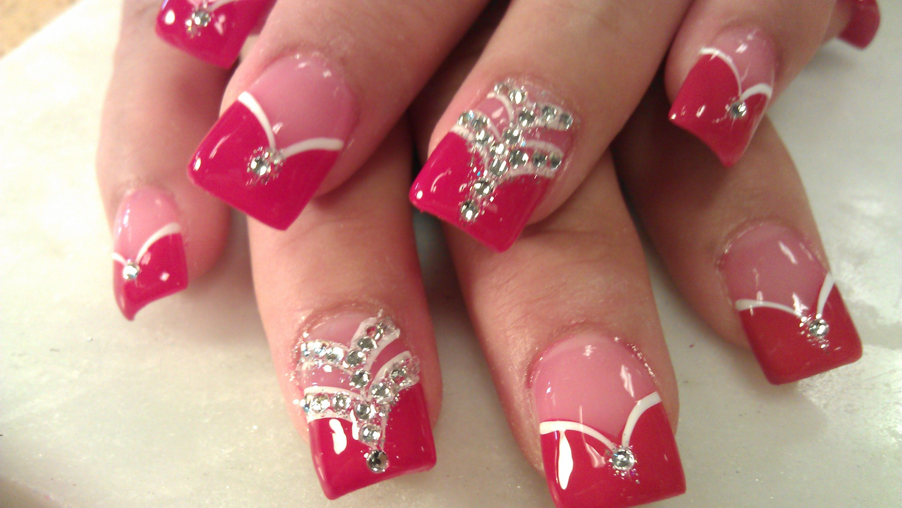 HOW TO LADY IN RED ACRYLIC NAILS - YouTube   Nails   Pinterest