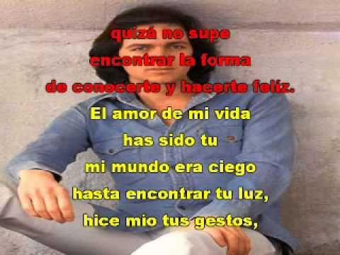 Camilo Sesto El Amor De Mi Vida Con Letra Amor De Mi Vida Camilo Sesto Letras Camilo Sesto
