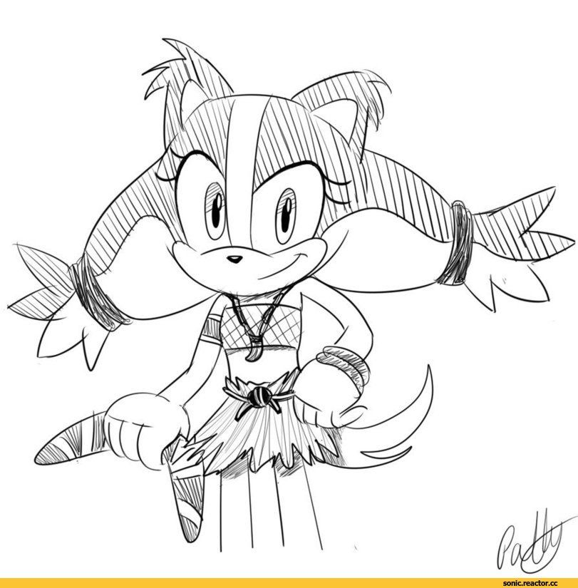 Badger Sonic Coloring Pages Sticks Super Coloring Pages