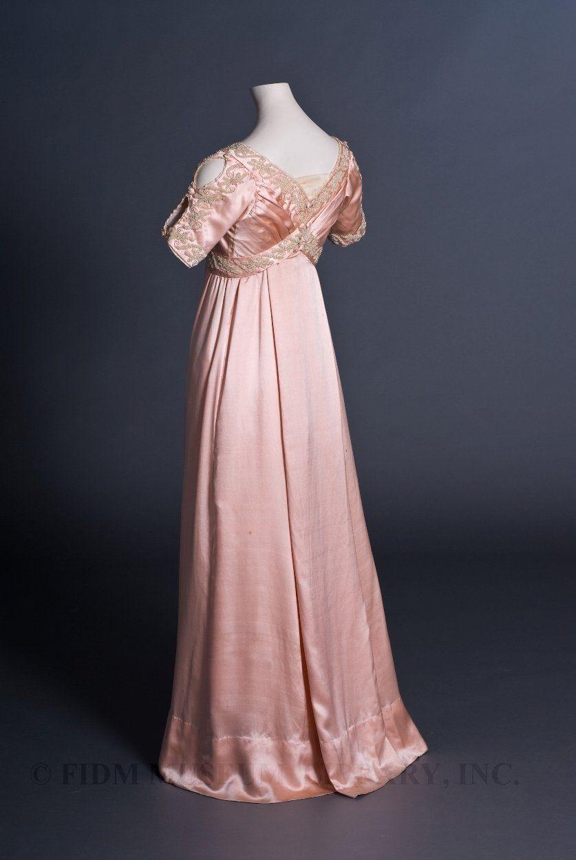 Liberty & Co. 1910 Evening Dress Edwardian silk satin and silk gauze ...