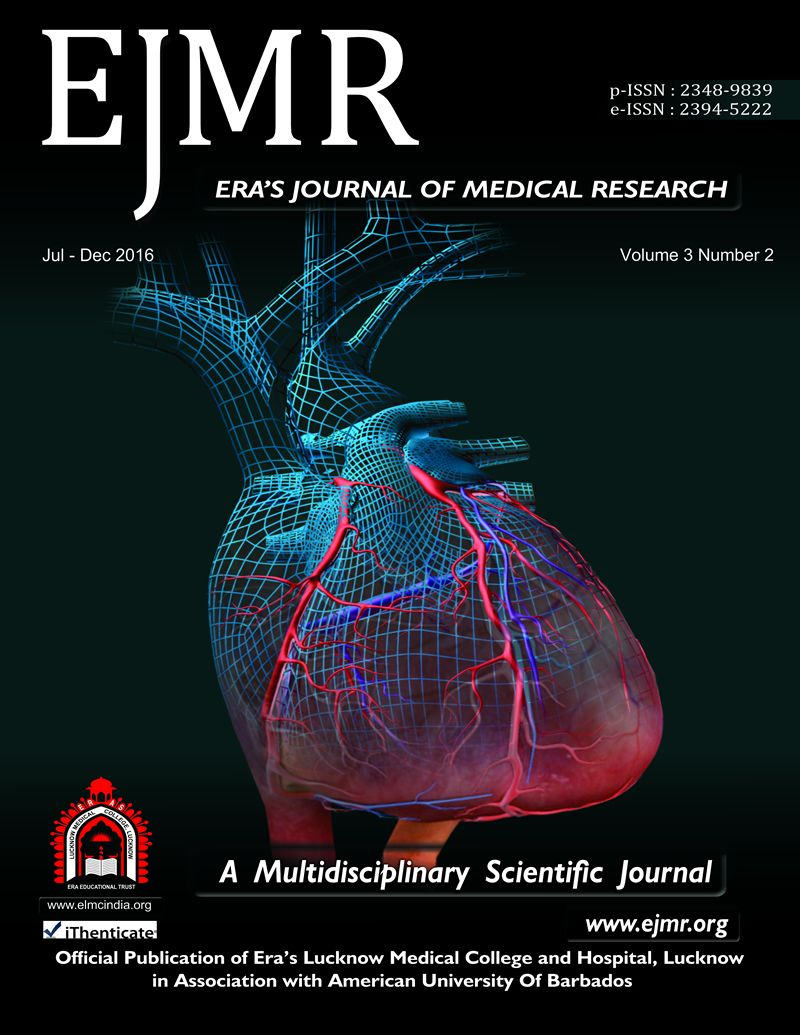Ejmr Stands For Era S Journal Of Medical Research A Multidisciplinary Scientific Journal Log On To Www Scientific Journal Medical Research Medical College