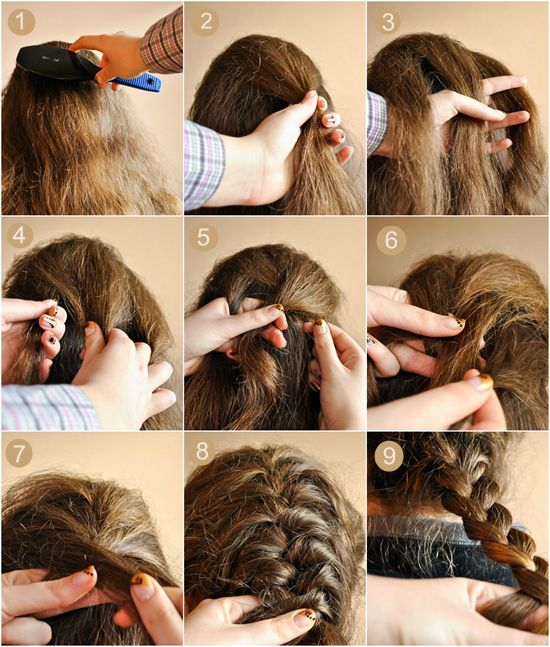 Hair Styles Of Long Hair Step To Step With Image 2 Hair Step By Step Cabelo Com Tranca Penteados Com Tranca Passo A Passo Cabelo