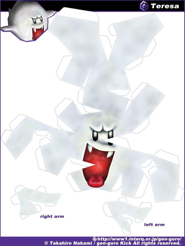 Super Mario Paper Craft - Boo | Papercraft | Pinterest ... - photo#26