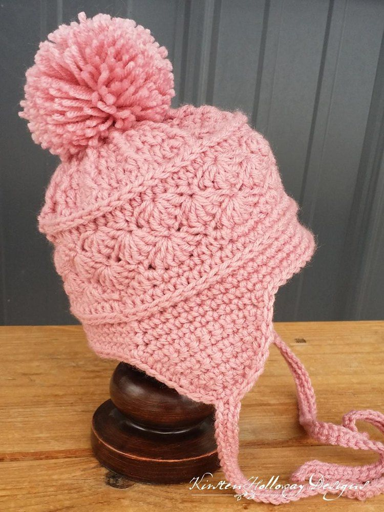 La Vie En Rose Earflap Hat Crochet Pattern By Kirsten