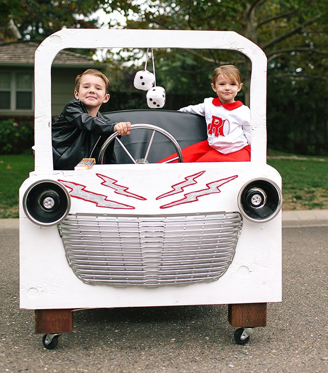 Grease Lightning Costume Danny And Sandy Costume Danny And Sandy Costumes Grease Costumes Diy Wagon Halloween Costumes