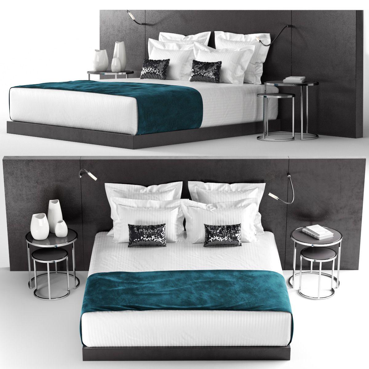 3d hotel bedding lamps 3d model 3d modeling pinterest 3d