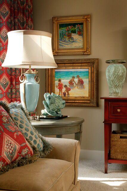 Beautiful Traditional Room Decor With Blue Sponge C Coastal Accents Decorating Ideas