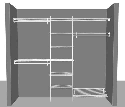 Closetmaid Wire Shelving Wardrobe Solutions Declutter Organise
