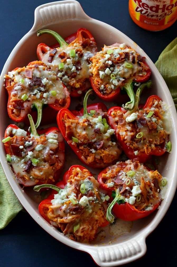 Buffalo Chicken Stuffed Peppers Host The Toast Recipe Buffalo Chicken Stuffed Peppers Stuffed Peppers Chicken Stuffed Peppers