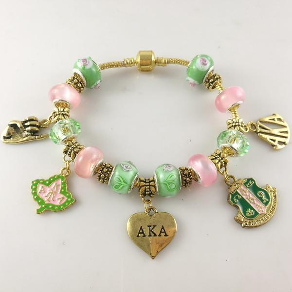 Alpha Kappa Alpha Gold Charm Bracelet Alpha kappa alpha Kappa and