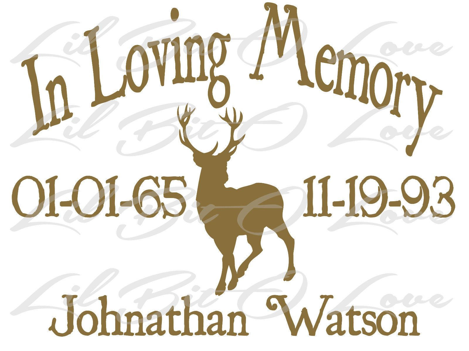 In memory of whitetail hunting buck deer mount vinyl decals sticker 4 decals description from ebay com i searched for this on bing com images
