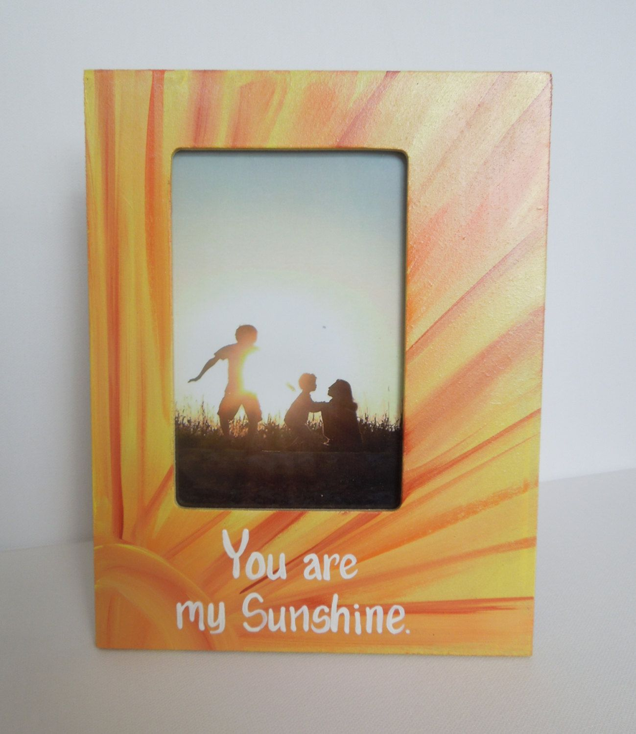 You are my sunshine picture frame photo frame with painted you are my sunshine picture frame photo frame with painted wording made to order jeuxipadfo Images