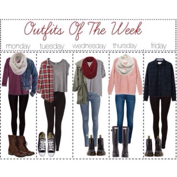 Outfits of the week for school