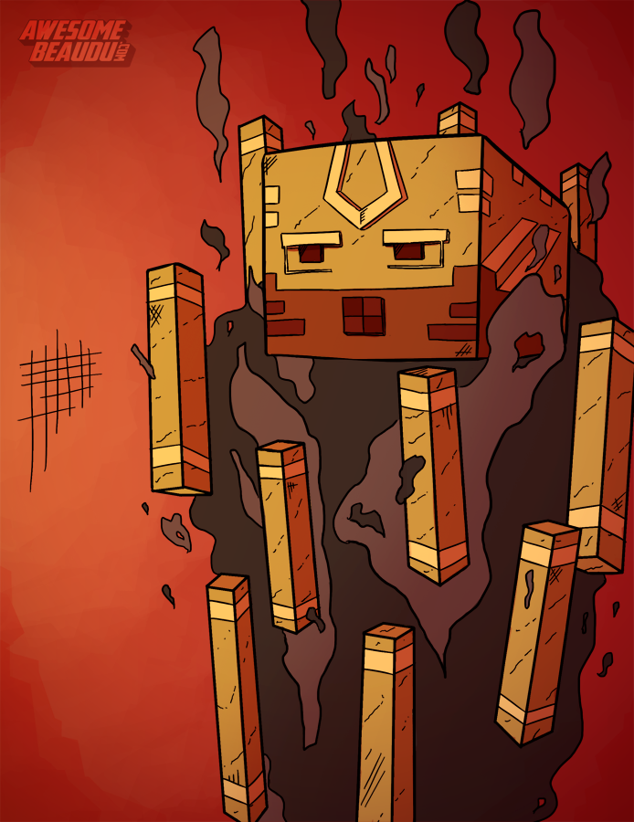 Minecraft blaze by awesomebeaudu on deviantart minecraft for Blaze cartoni