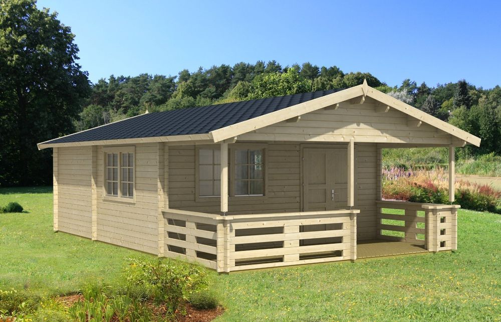 18ft X 27ft 3 Room Log Cabin Guest Pool House Building Kit With Covered Porch Business Industrial Construction Prefab Log Cabins Pool House Log Cabin Kits