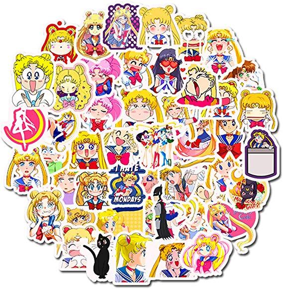 33 Pcs Stickers Sailor Moon Sticker Pack Anime Stickers Decorative Stickers Scrap Booking Anime Stickers Sailor Moon Cute Stickers
