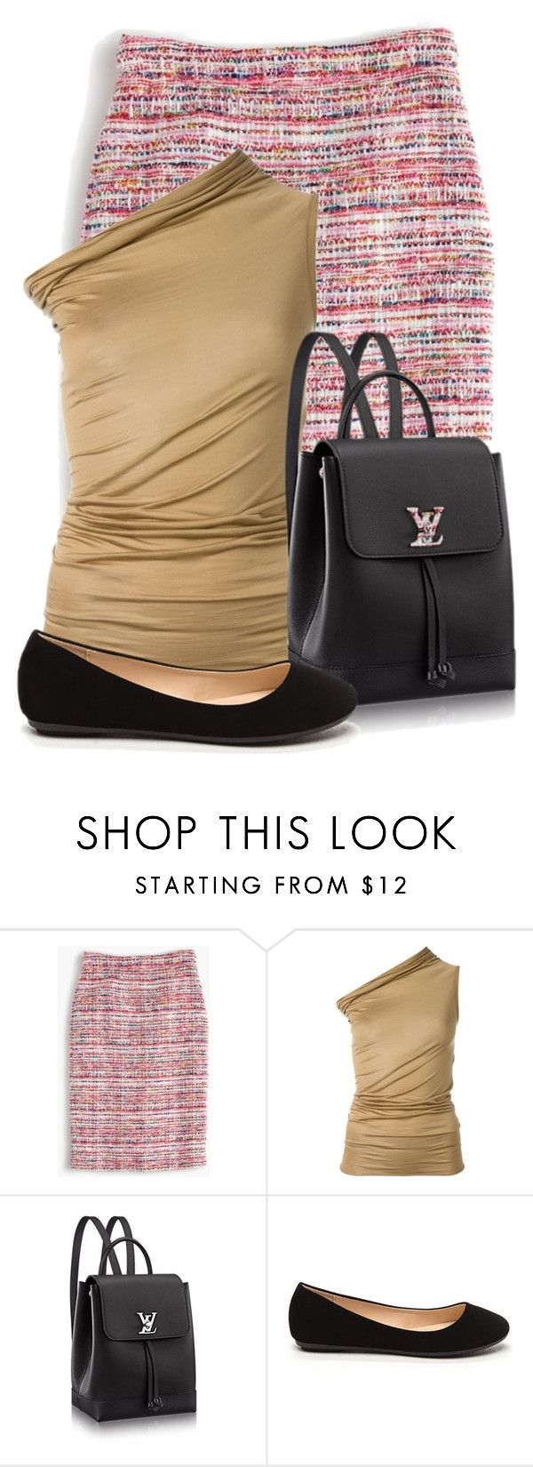 """""""Untitled #16725"""" by nanette-253 ❤ liked on Polyvore featuring J.Crew and Rick Owens"""