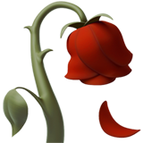 Wilted Flower On Apple Ios 12 1 Rose Emoji Wilted Rose Apple Roses