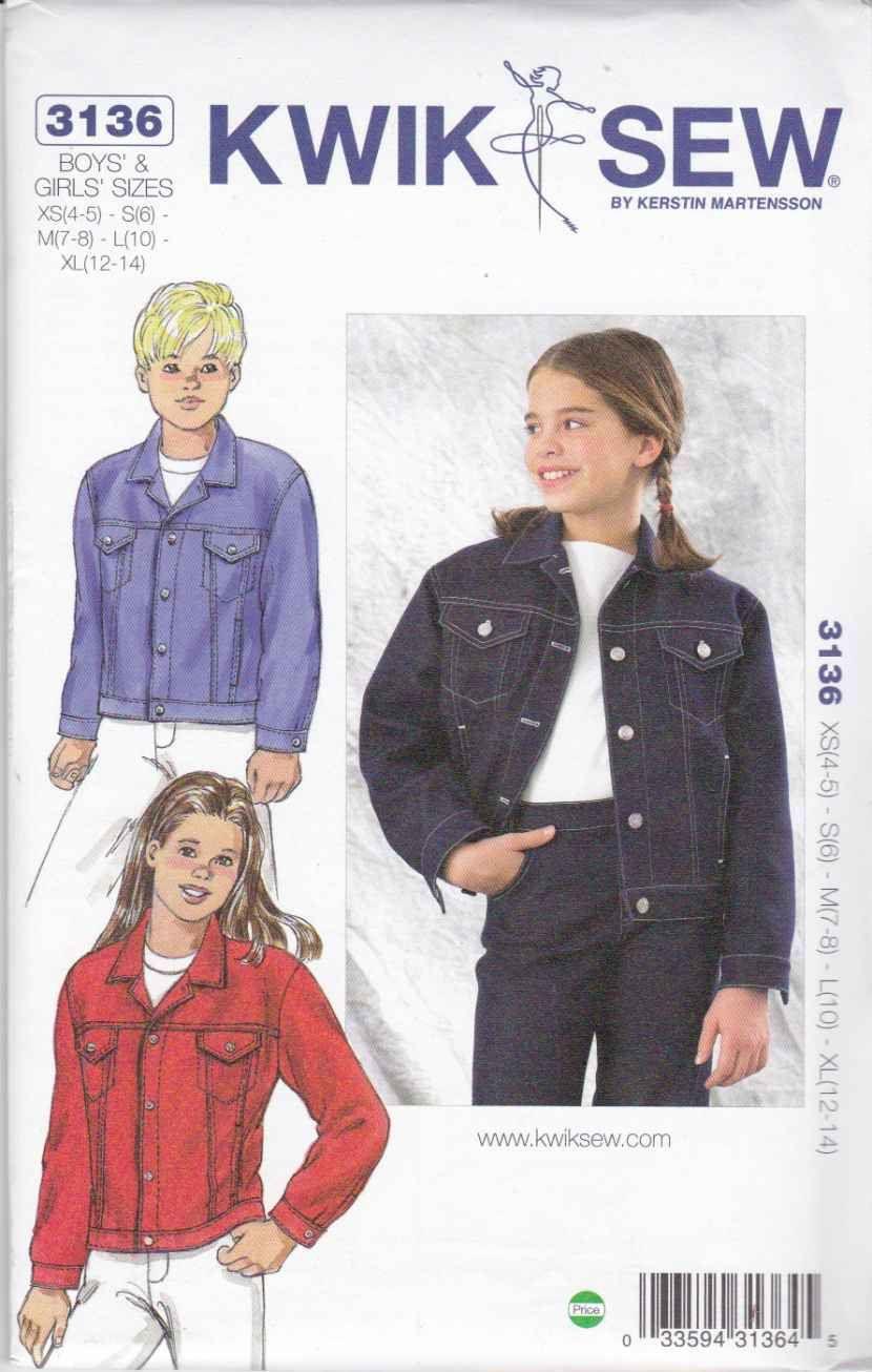 Kwik sew sewing pattern 3136 boys and girls sizes xs xl 4 14 kwik sew sewing pattern 3136 boys and girls sizes xs xl 4 14 jeuxipadfo Choice Image