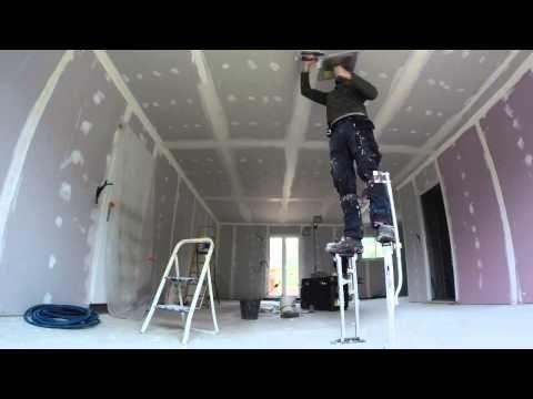 comment faire des joints de placo troisi me partie youtube pladur pinterest. Black Bedroom Furniture Sets. Home Design Ideas