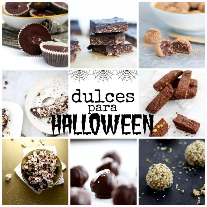 Recetas de dulces mas sanos para Halloween y hechos en casa. También son totalmente veganos.