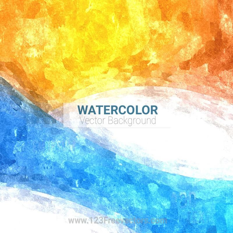 Orange Blue Watercolor Background Watercolor Background