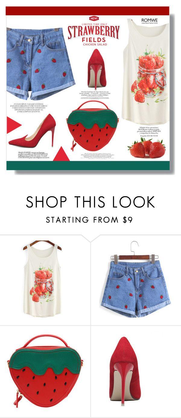 """Strawberry"" by jenny007-281 ❤ liked on Polyvore"