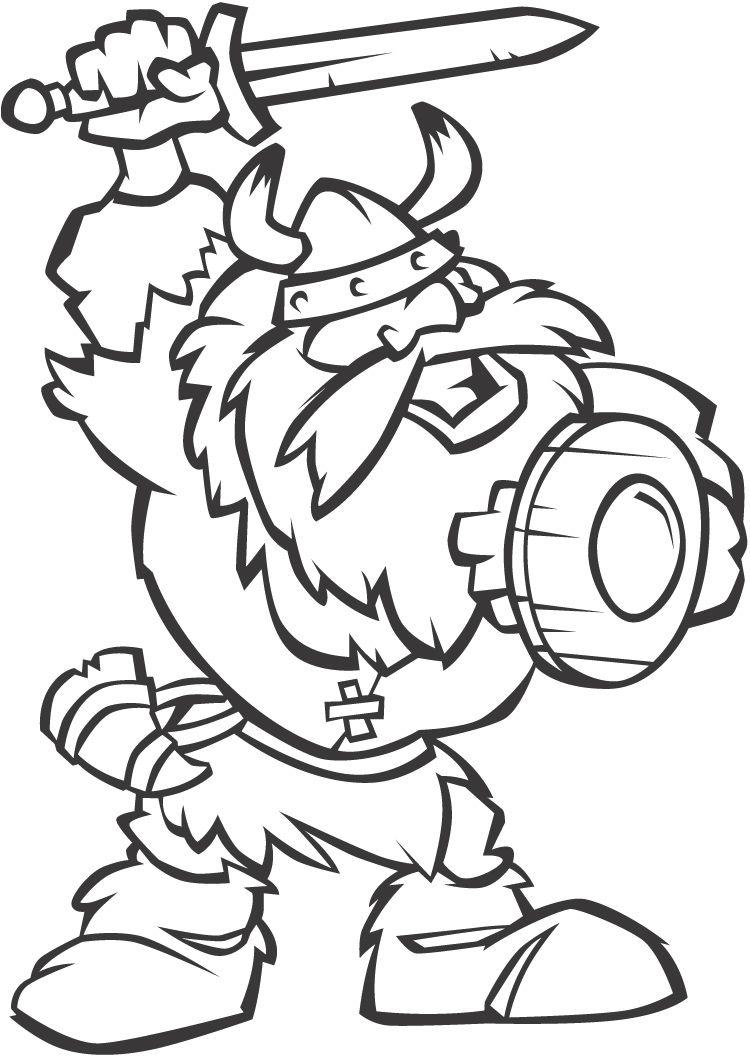 Viking Cartoon Coloring Page Homeschool Pinterest Vikings