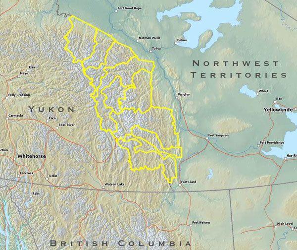 Mackenzie Mountains Canada Map Mackenzie Mountains, Yukon, Canada Map | Canada map, Yellowknife