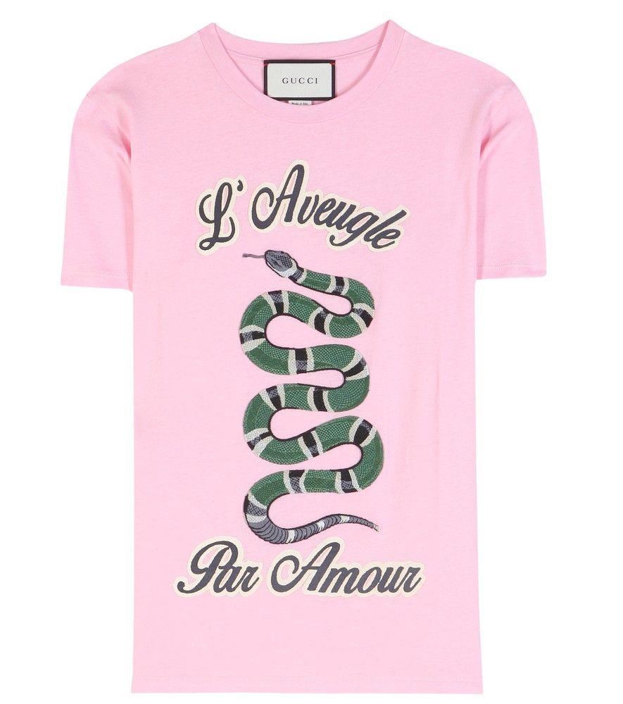d08a2b62 Gucci - T-Shirt aus Baumwolle mit Stickerei und Print - Das T-Shirt ist ein  Basic, das aus keiner Freizeitgarderobe wegzudenken ist.