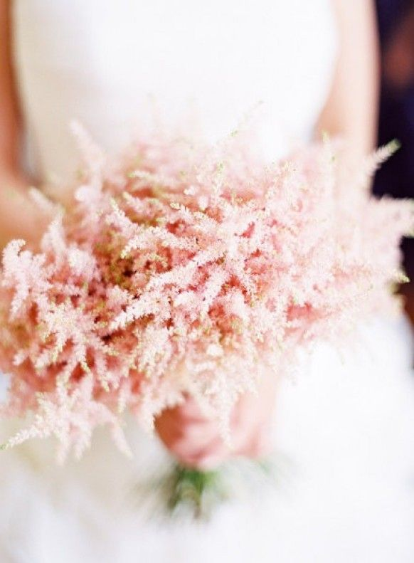 Ethereal blush astilbe bouquet #astilbebouquet