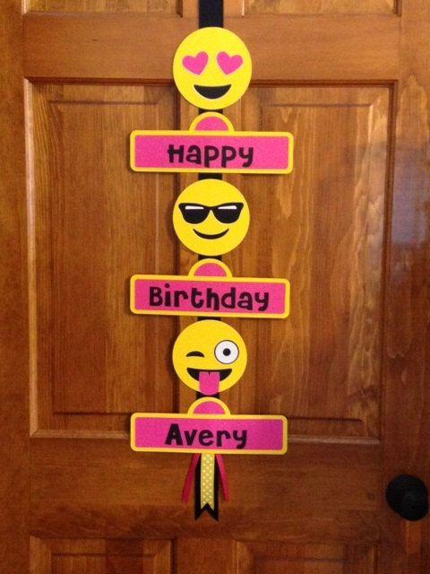 Emoji Smiley Faces Birthday Party Door Sign by Hope2Create on Etsy & Emoji Smiley Faces Birthday Party Door Sign by Hope2Create on Etsy ... Pezcame.Com