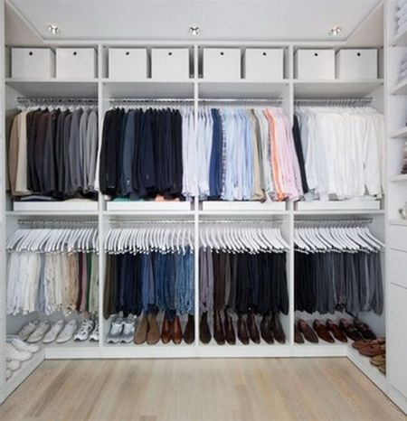 This Might Be An Idea For Manu0027s Closet. Top Shelf Could Be For Suitcases.
