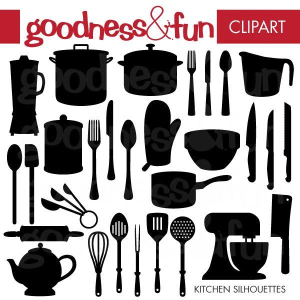 kitchen silhouette clip art Gallery