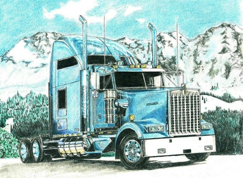 Camion Kenworth Camiones Kenworth Dibujos A Lapiz Dibujos