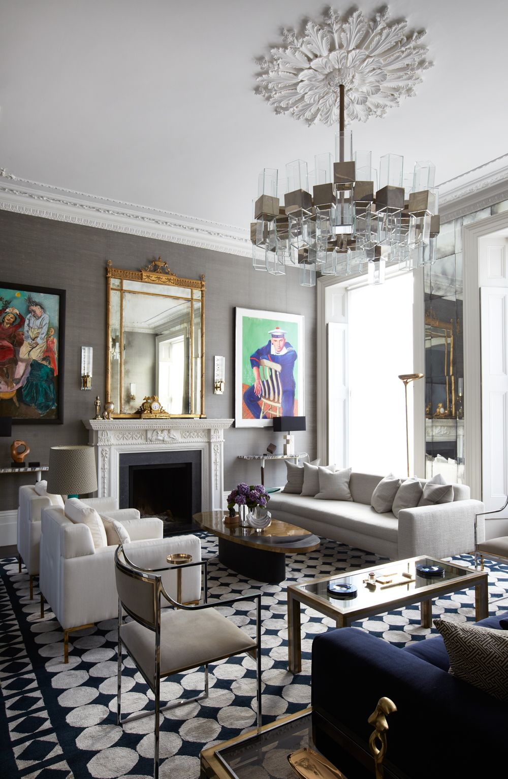 Living Room Ceiling Colors The Set The Shoot Cate Blanchett For Vogue Us The Chandelier